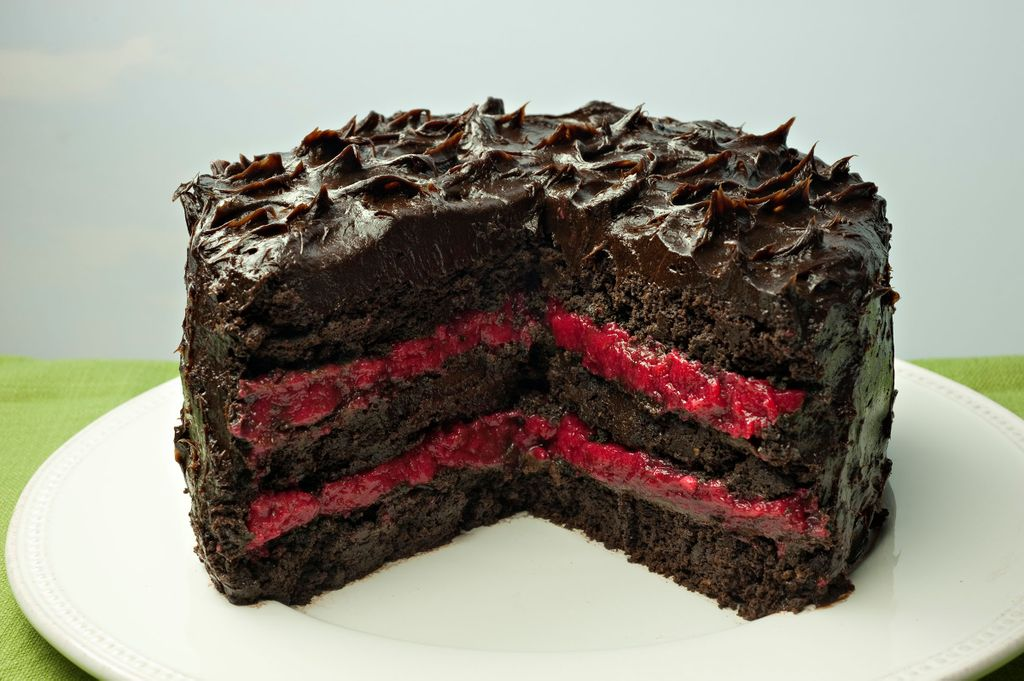 Chocolate And Raspberry Paleo Cake