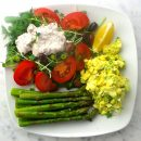 Egg Salad with Cashew Mayo & Asparagus