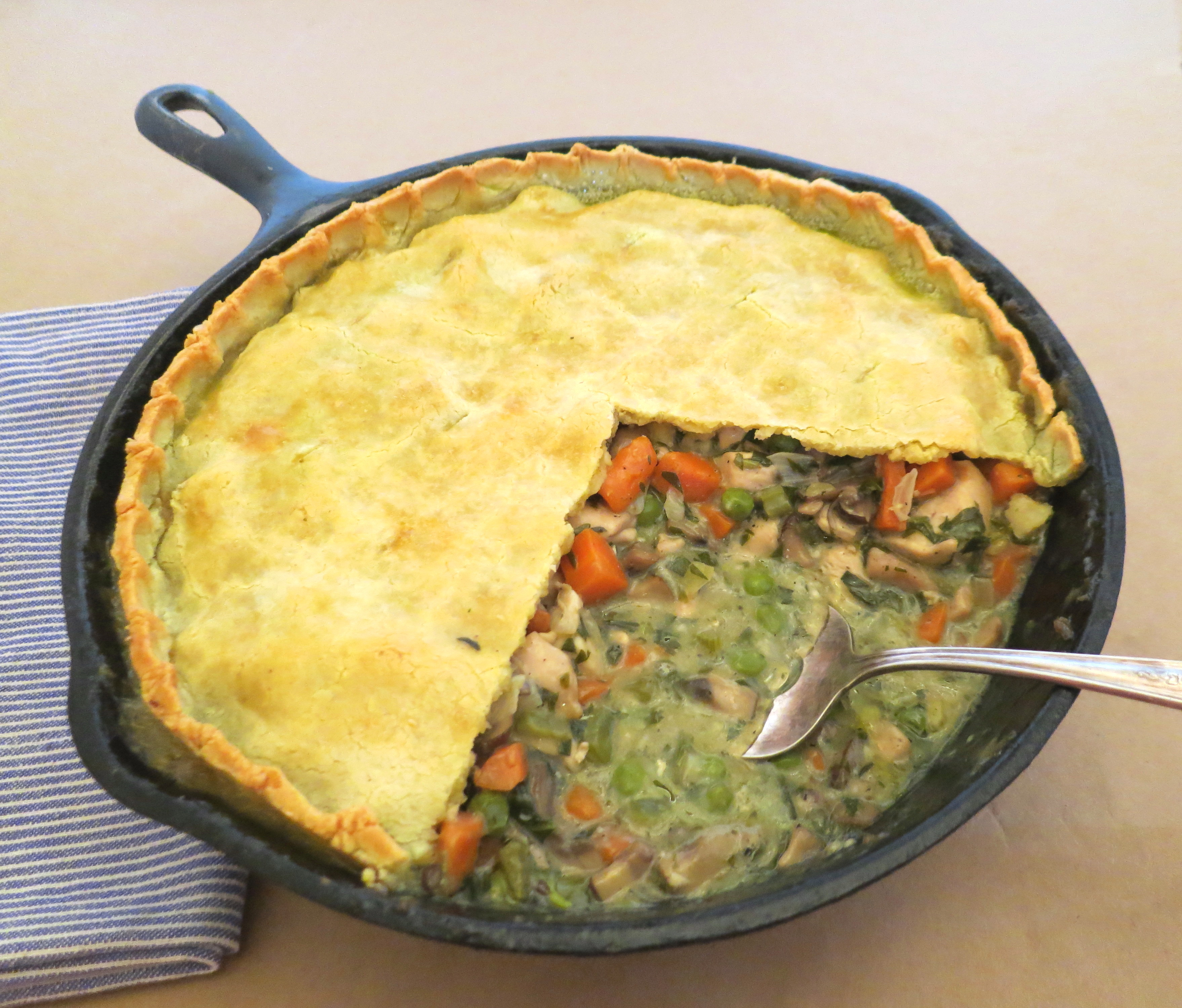 how to make double chicken pot pie easy