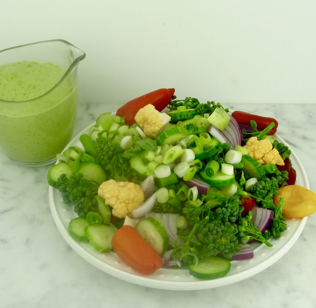 Rainbow Salad with Herb Dressing | Jane's Healthy Kitchen
