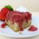 Strawberry-Rhubarb Upside Down Cake, Paleo and Grain-free